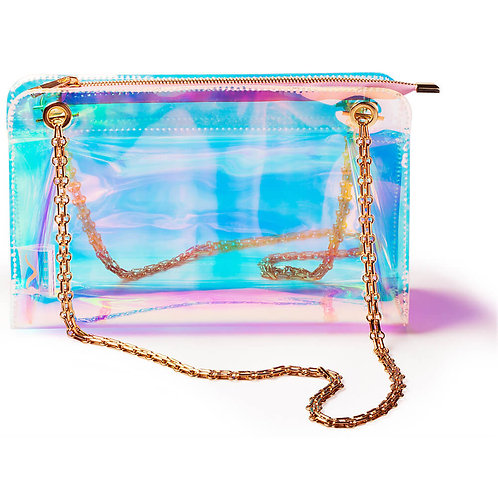 Cat Walk Of Fame Holographic Clear Cocktail Bag