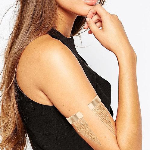 Gaza Tassel Gold Arm Cuff