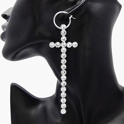 Criss Cross Crystal Earrings