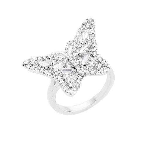 Crystal Papillon Ring