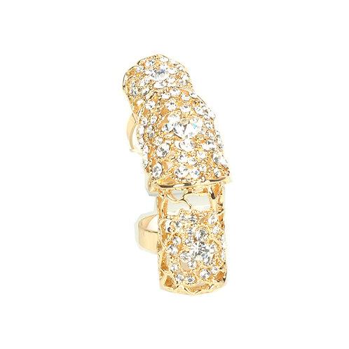 Une Fleur Full Finger Ring