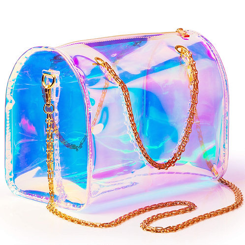 Clear Prism Round Satchel Large Bag
