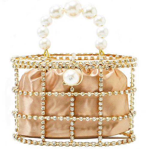 Diamonds and Pearls Clutch Bag