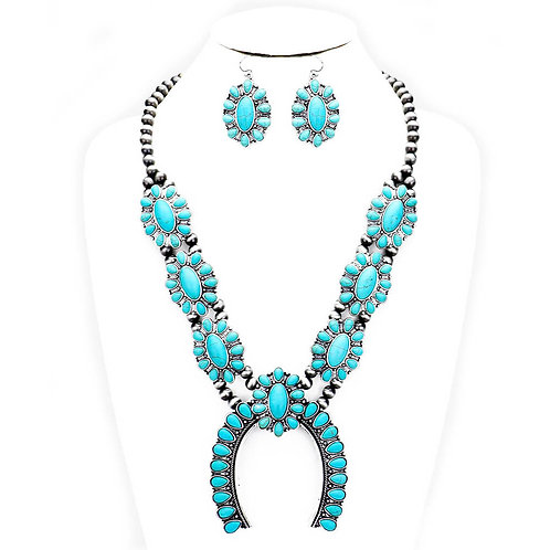Navajo Tribal Lucky Blossom Necklace Set