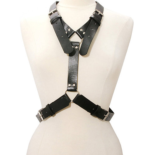 Heather Leather Body Harness