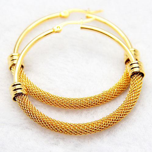 Energia Spiral Gold Hoops