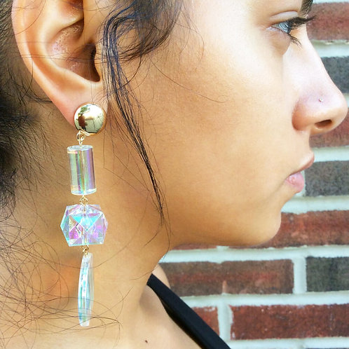 Clear Prism Acrylic Earrings
