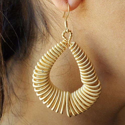 Rimbalzo Gold Hoops