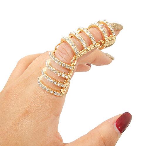 Gold Barre Full Finger Ring