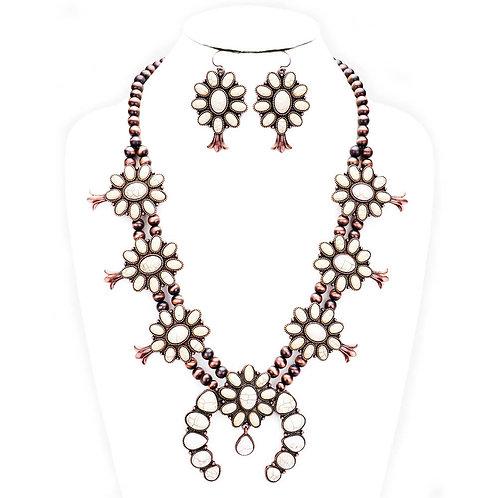 Navajo Tribal Lit Blossoms Necklace Set