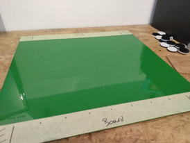 How to make a magnetic Othello wall board