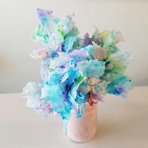 Watercolor Paper Flower Bouquet Kit