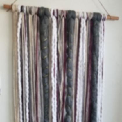 Macrame Wall Hanging Piece w/Yarn: Virtual Workshop