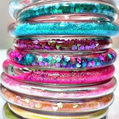 Glitter Water Bracelets
