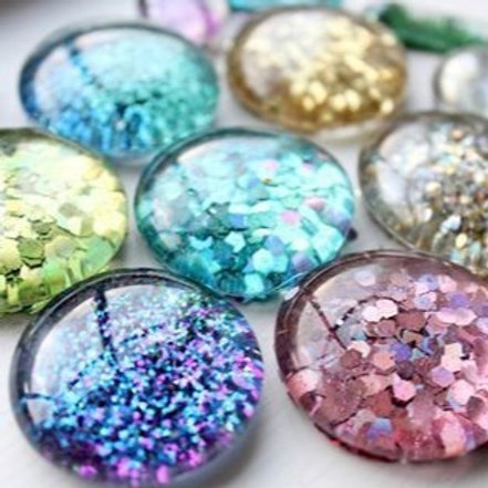 Glitter and Paper Magnets