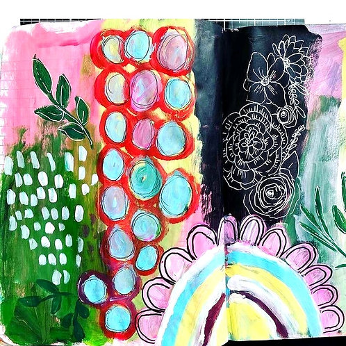 Introduction Mixed Media Art: Marks and Shapes