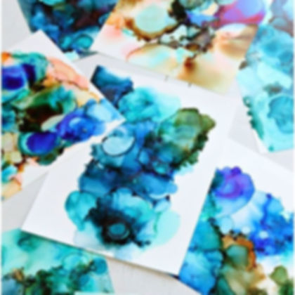 Painting with Alcohol Inks: Virtual Workshop