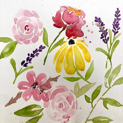 Beginning Watercolor: Flowers  (AT STUDIO)