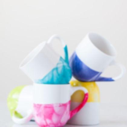 Marbled Coffee Mugs