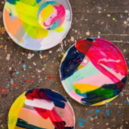 Painted Clay Coasters