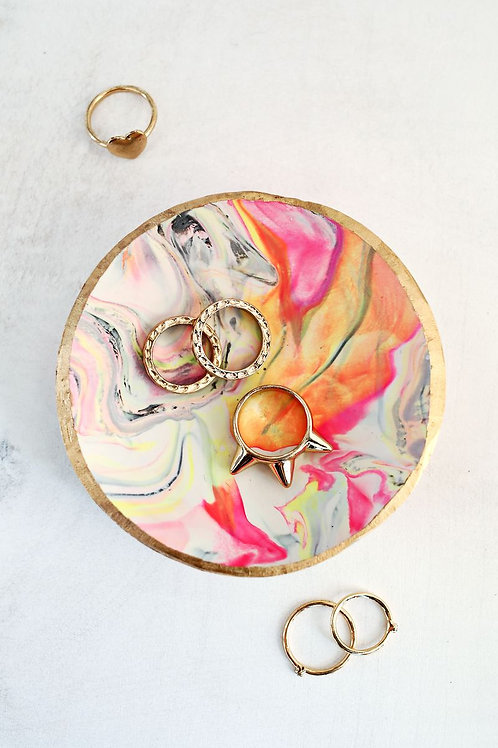 Day 12: Clay Marbled Ring Dishes