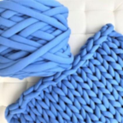 Arm Knitting: Small Blanket