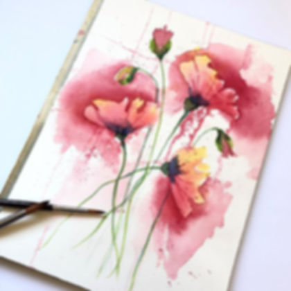 Watercolor Workshop: Techniques and Paint a Floral and Seascapes