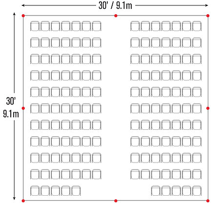 Catheral Seating Package (30x30)