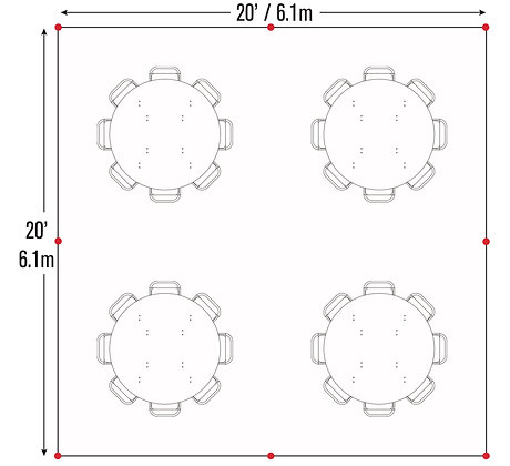 Round Table Package (20x20)