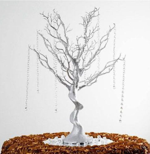 30'' Metallic Silver Centerpiece Tree