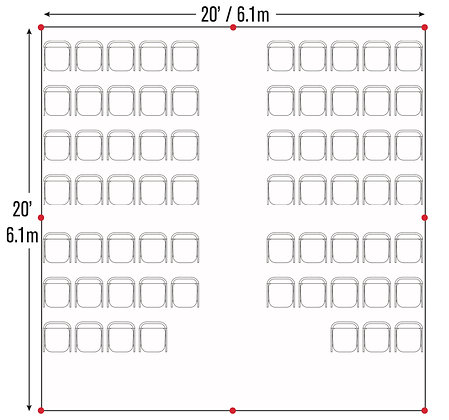 Cathedral Seating Package (20x20)