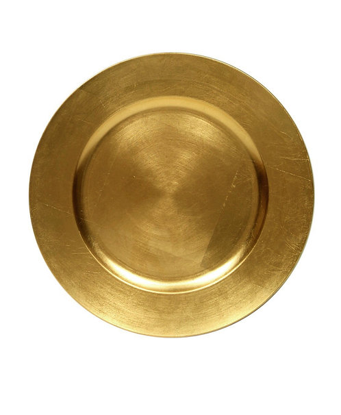 """Charger Plate 13"""" Gold"""