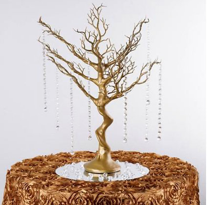 30'' Metallic Gold Centerpiece Tree