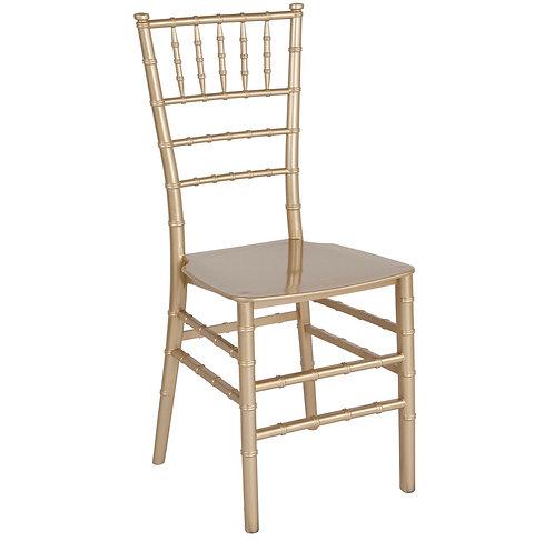 Gold Chiavari Chair with cushion.