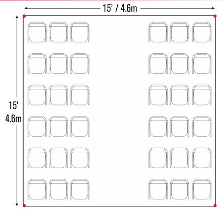Cathedral Seating Package (15x15)