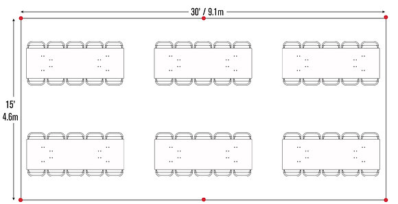 Rectangle Table Package (15x30)