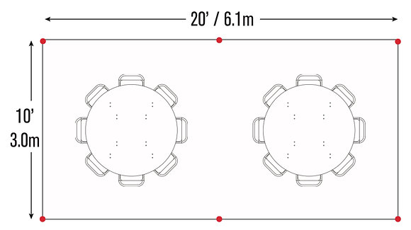 Round Table Package (10x20)