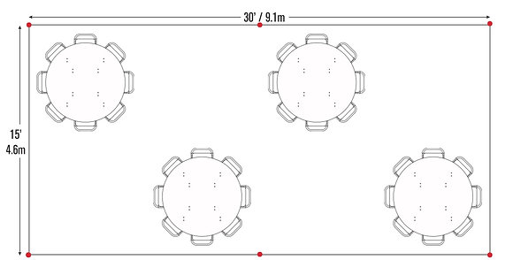 Round Table Package (15x30)