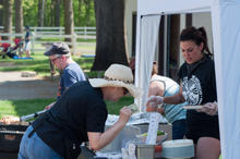 Ask A Punk Catering was busy all day!