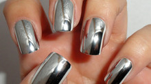 CHROME NAILS DAZZLE SEBASTIAN!