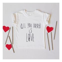Instagram - ALL YOU NEED IS LOVE ❤️✌️ 🔴N E W🔴 #mediahora #mediahorakids #tshir