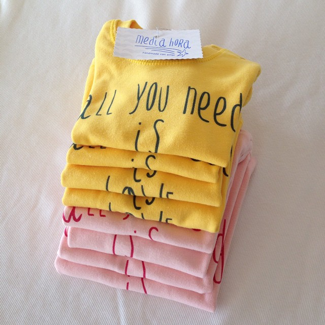 Instagram - L O V E ❤️ #mediahora #mediahorakids #allyouneedislove #pink #yellow