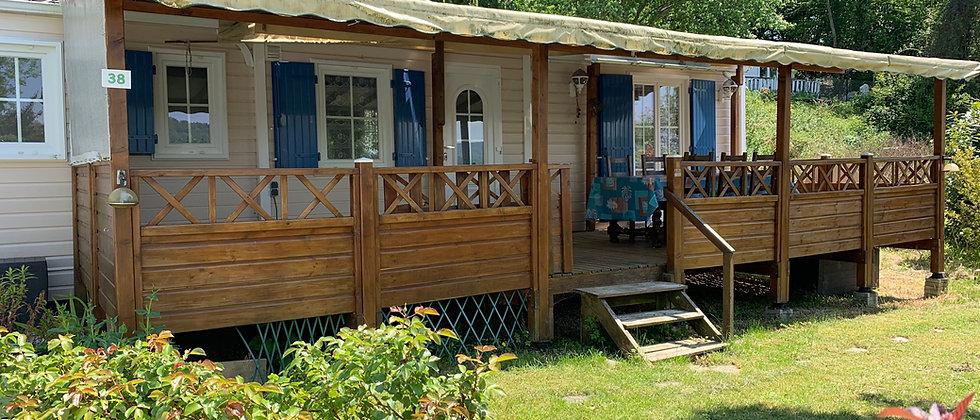 Réservation Mobil-home grand confort pour 4 pers. (Etage 3) (accompte de 25%)