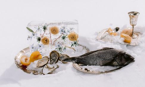 Floral Ice Design