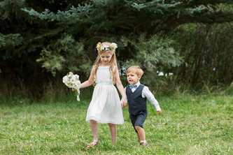 Flower Girl Bouquet and Floral Crown