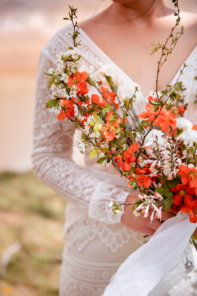 Wedding bouquet quince