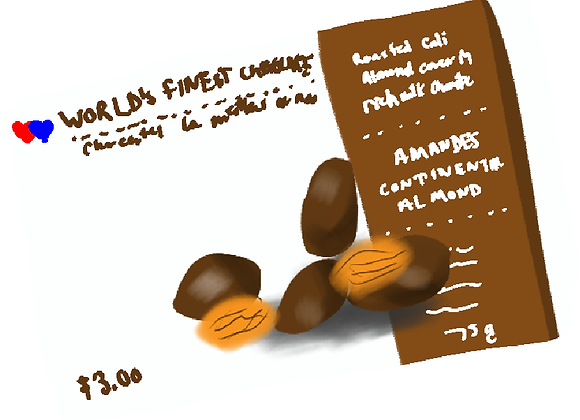 Add-On: box of Almonds