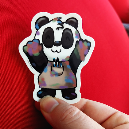 Panda Painter Artist Sticker | Sticker | Die Cut Sticker, Laptop Decal, Waterpro