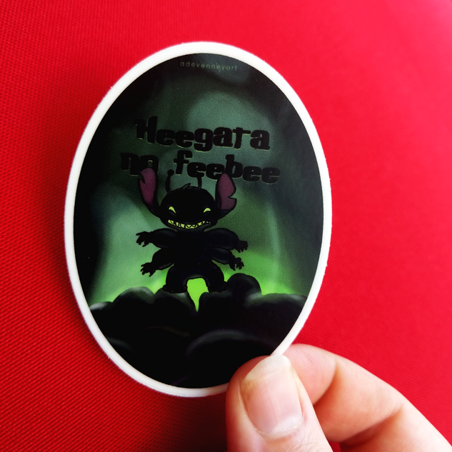 Lilo & Stitch Motivational Quote Sticker