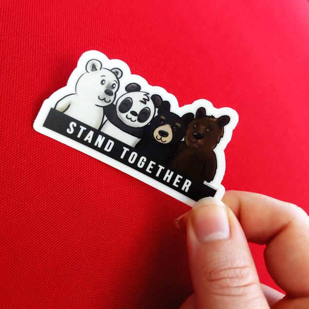 BLM | Stand Together Panda| Sticker